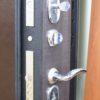 металлическая входная дверь металлическая входная дверь Кова ФЛЗ-5 Венге горизонт, Шелк черный Замок