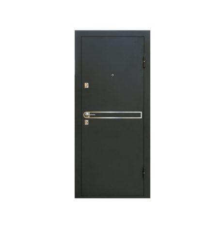 железная дверь уд 146 беленый дуб с белой панелью
