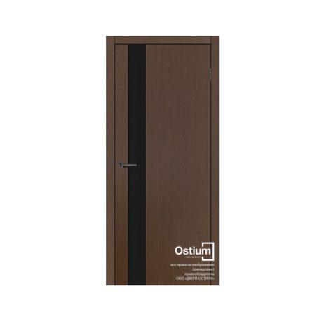 Альфа (черный лакобель) купить межкомнатную дверь