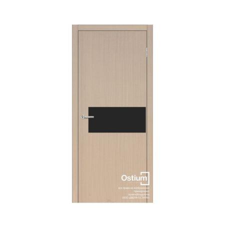 Омега (черный лакобель) купить межкомнатную дверь