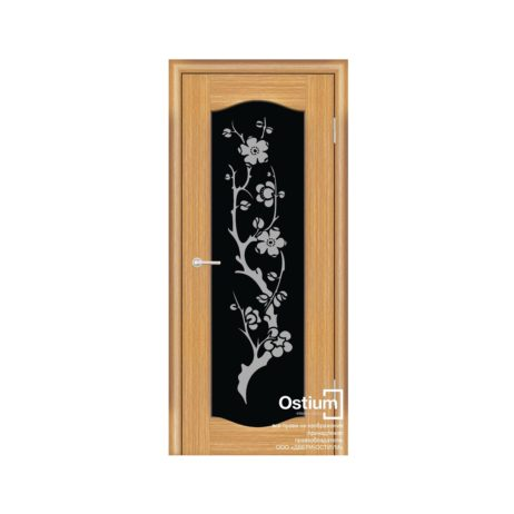 Престиж классик с худ. рис.(черное) купить межкомнатную дверь