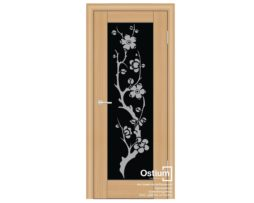 Престиж с худ. рис. (черное) купить межкомнатную дверь