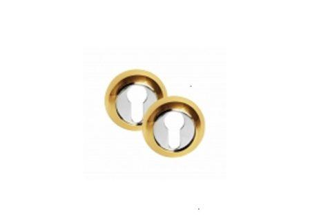 Накладка на евроцилиндр (круглая) CL PB (золото)200