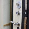 Кова белый шелк металлическая входная дверь Панель с зеркалом Замок