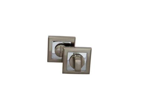 Завертка на квадратной накладке OLS HH (белый никель) 300